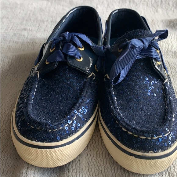 Sperry Shoes - Sperry Topsider Limited Edition Navy Sequins
